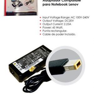Cargador Notebook Alternativo Lenovo Punta Cuadrada